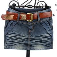 Pollera De Jeans Autumn plus size denim skirt denim short skirt Women slim hip mm bust skirt  saia jeans