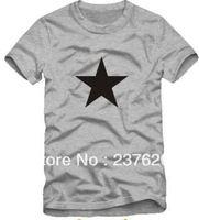 Free shipping 2014 new sale vintage tshirt small five star printed korean style fashion t-shirt 100% cotton short sleeve t shirt