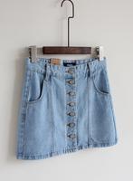 Pollera De Jeans Fashion vintage all-match high waist slim single breasted denim skirt a bust skirt short skirt  saia jeans