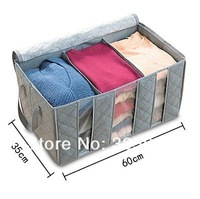 2013 new bamboo storage box with lid 65 l clothing storage box storage box