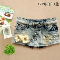 Pollera De Jeans Fashion women's slim denim short paragraph half-length culottes skirt boot cut jeans 121  saias shorts jeans
