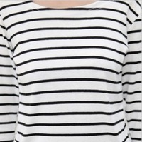 Hot sale 2013 Hitz large size women bottoming shirt striped long-sleeved blouse women t-shirt