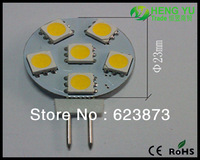 12pcs Cree CE ROHS G4 2W Round LED Spot Light Lamp Car Light SMD5050 12V 6leds warranty 2 years CE ROHS