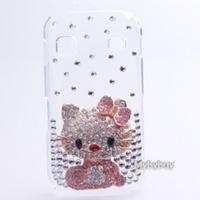 Cute Hello Kitty Bling Diamond Case For Samsung Galaxy Gio S5660