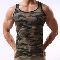 NEW fashion military style camouflage camouflage vest men's vest sexy tight shaping Junzi free shipping
