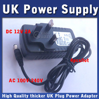 3 PINS UK DC 12V 2A Switching Power Supply adapter 4pcs/lot 100-240V AC For CCTV Camera Free Shipping