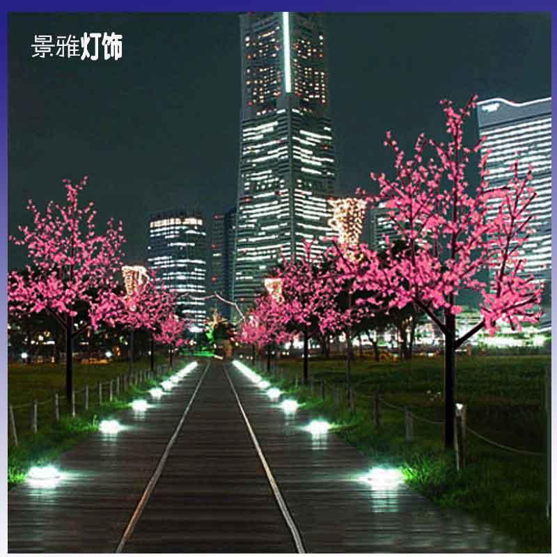 Led cherry blossom tree lights led landscape tree decoration lamp outdoor led lighting landscape lamp gift(China (Mainland))