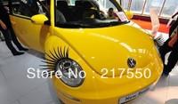 Free Shipping!headlights car eyelash false eyelashes car stickers car electric eye stickers lights Car Accessories