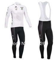 Free Shipping 2013 Tofrance Thermal fleece Cycling Long Sleeve and Bib Pants Cycling Team J10011359