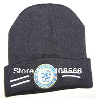 Free shipping Chelsea black hat / wool hat  cold cap
