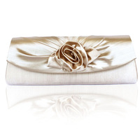 Woman luxury fashion evening bag flower banquet bag women's small day clutch silk quality elegant handbag