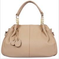 2013 fashion women's handbag genuine leather tassel messenger bag for female / vintage women tote / free shipping