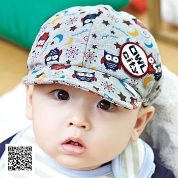 3439 princess autumn hat baby cap baby baseball cap owl sunbonnet