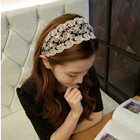 Lace hair bands broadside headband flower vintage hair pin hair accessory card hair accessory t024