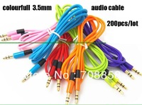 200pcs/lot free ship dhl or fedex, 3.5mm To 3.5 mm Car Aux Audio Cable, male to male stereo Audio Cable  for mp3 phone speaker