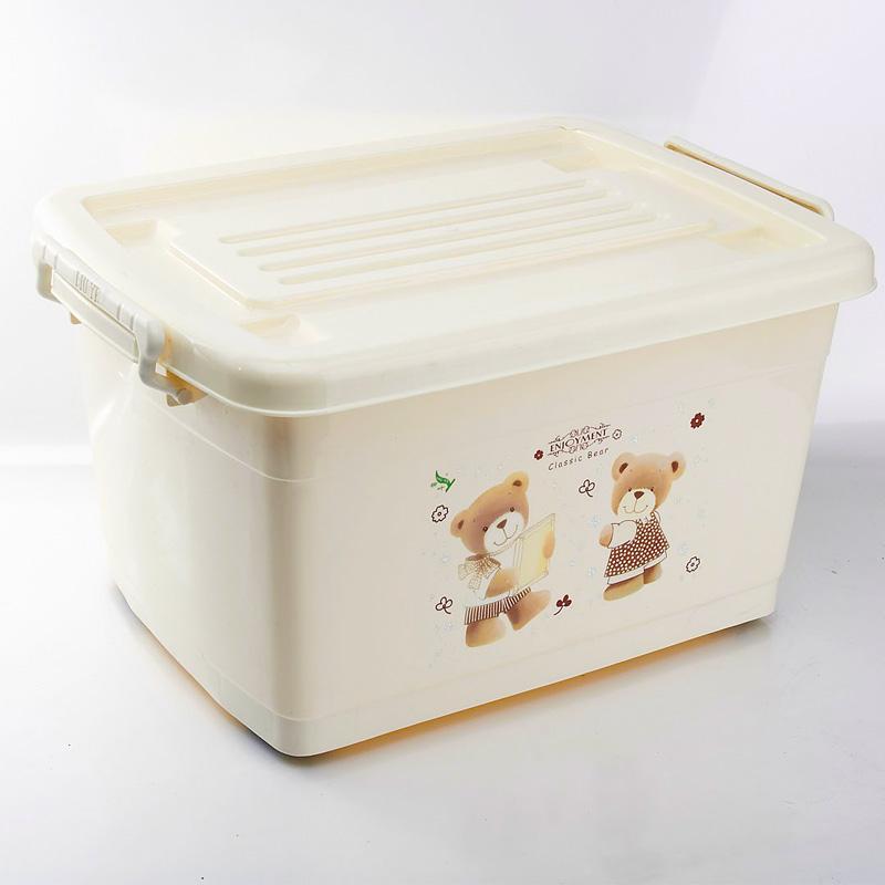 Large storage box pulley plastic finishing box storage box car box(China (Mainland))