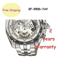 New EF-550D-7AV Mens Chronograph Sport Watch EF-550D EF 550D With 1/1 Second Stopwatch