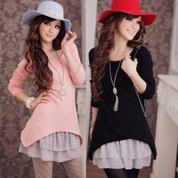 2013 autumn women's clothes floral print dress wool sweater autumn elegant long-sleeve dress