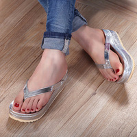 Free shipping 2013 platform wedges flip flops flip slippers beach sandals female sandalias