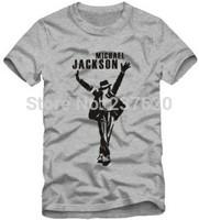 Free shipping kids tshirt michael jackson dancing king print t shirt dance tops 100% cotton size 90/100/110/120/130/140/150