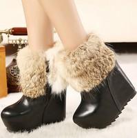 wedges high heels fashion ankle platform snow boots for women shoes woman 2013 ladies winter pumps martin punk warm fur SXX36327