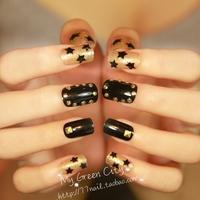 NEW Fashion Punk super Star Personalized Rivet Nail Art Finished Products Fake Nails/false nail,Free Shipping