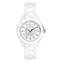 Chepond New Arrival Swiss Sapphire Crystal  White Ceramic Ladies Watch Korea Women's Fashion Rhinestone Vintage Waterproof Watch