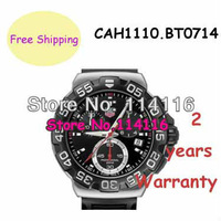 CAH1110.BT0714 CAH1110 BT0714 Rubber Strap Black Dial Watch Quartz Movement mens Wristwatches + Original box