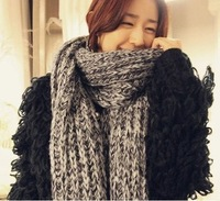 Free shipping 2013 new fashion fluffy thick warm winter scarf knitted scarf mohair wool scarves women