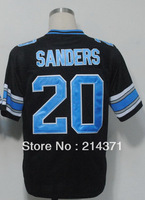Wholesale 20 Barry Sanders Black Throwback Football Jersey Hot Free Shipping 2013