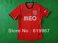 new arrival 2013/14 top thai quality Benfica home red soccer football jersey, Benfica soccer uniforms embroidery logo free ship