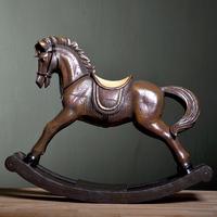 French wood markor furnishings resin decoration rocking horse - large