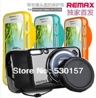 Original Remax Brand Soft Silicon Case With Camera Protetive Cap For Samsung Galaxy S4 Zoom C101 Back Cover, Freeshipping!