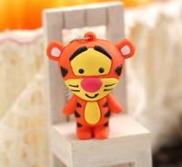 Wholesales 10pcs/lot cartoon standing tiger usb 2.0 memory flash drive pen drive disk free shipping