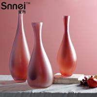 Indoor snnei aimee scrub glass vase home accessories desktop decoration