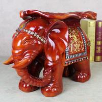 Mahogany resin elephant change a shoe stool home decoration fashion technology gift stool