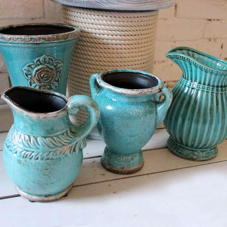 Blue vintage retro finishing vase flower ceramic andcreatively new home standard decoration(China (Mainland))