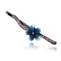 free shipping (min order 10usd) fashion rhinestone side-knotted clip/ alloy bow hairpin