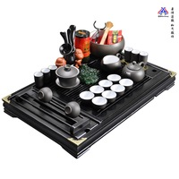 Tea set tea set yixing kung fu tea electromagnetic furnace solid wood tea tray