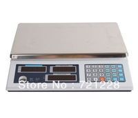 Free Shipping  2014 NEW best hot sale Ultra-thin weighing scale 30kg/10g, 15kg/5g