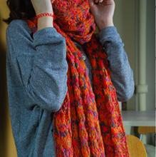flower crochet scarf promotion