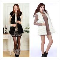 Faux vest female fashion medium-long sleeveless long-sleeve outerwear faux short