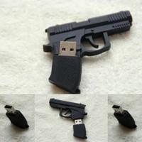 New free shipping 10pcs/lot cartoon usb 2.0 flash drive pen drive pistol memory stick