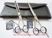 """KASHO"" Master Series Hair Salon Cutting Scissors Set, JP440C Stainless Steel Professional 5.5"" Shear + 5.75"" 28T Thinner"