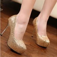 new 2014 fashion star high quality bling women pumps high-heeled platform shoes woman wedding women shoes