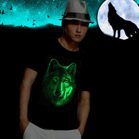 A Song of Ice and Fire Game of Thrones Direwolf Nymeria Ghost Luminous 3D Light Emitting T-shirt  100% cotton