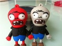 New free shipping 2 pcs together zombies model usb flash drive pen drive gift