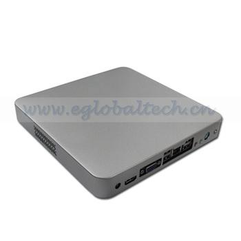 4 USB Thin Client PC Desktop Computers HD Mini PC Cloud Computer Intel D2500 CPU 2GB DDR3 160GB HDD