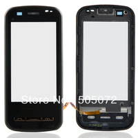 Black Touch Screen Digitizer With Frame Fit For Nokia C6 B0095
