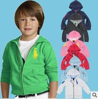 Children wool cardigan POLO Hoodies,2-9Y children's sports POLO hoodies,free shipping